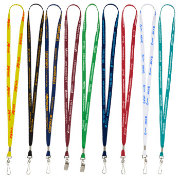 "3/8"" Supersoft Polyester Silkscreen Lanyard"