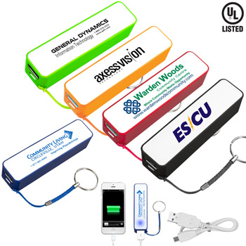 """In Charge"" PB200 UL Listed 2200 mAh Portable Lithium Ion Power Bank Charger PB100 (Spot Color)"
