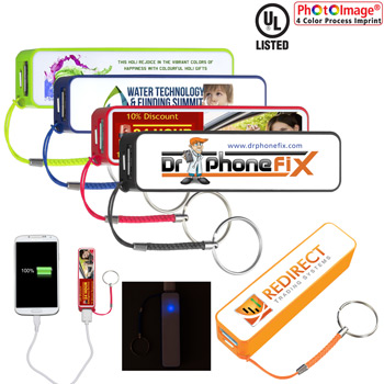 """In Charge"" PB200 UL Listed 2200 mAh Portable Lithium Ion Power Bank Charger PB1004 (Photoimage Full Color)"