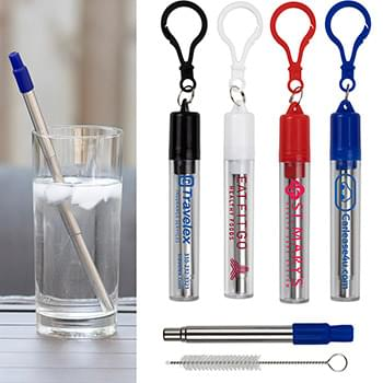 """Eco-Collapsible Straw"" 8"" Reusable Stainless Steel Straw"