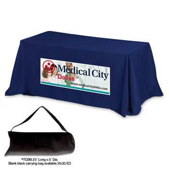 6' 3-Sided Economy Table Covers & Table Throws (PhotoImage Full Color)