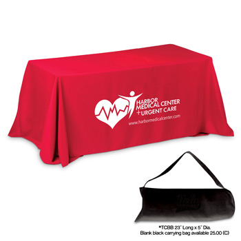 8' 3-Sided Economy Table Covers & Table Throws (Spot Color Print)