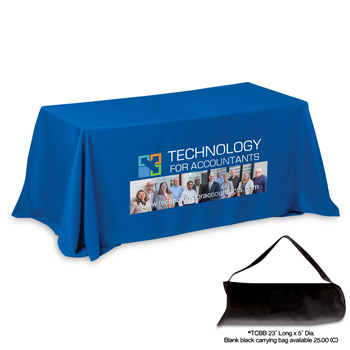 6' 4-Sided Throw Style Table Covers & Table Throws (PhotoImage Full Color)