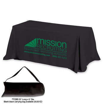 8' 4-Sided Throw Style Table Covers & Table Throws (Spot Color Print)