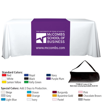 "6' OR 8' 60"" L Table Runners (Spot Color Print)"