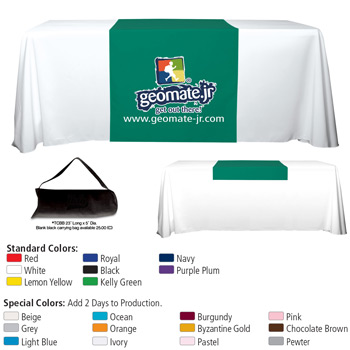 "6' OR 8' 60"" L Table Runners (PhotoImage Full Color)"