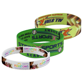 "1"" Stretchy Elastic Dye Sublimation Wristbands - PhotoImage ® Full Color Imprint"