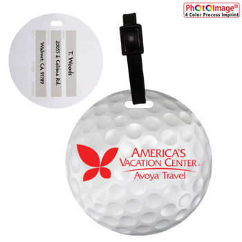 Recycled Mini Golf Ball Luggage Tag