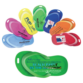 "Stock Shape Sandal Luggage Bag Tag""  with Printed ID Panel"
